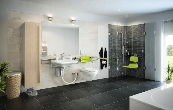 Bathroom level access wetroom installer london taylor dolman Kitchen and bathroom design courses london